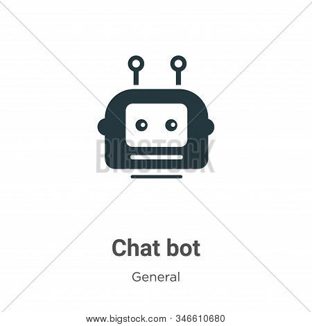Chat bot icon isolated on white background from general collection. Chat bot icon trendy and modern