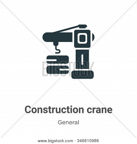 Construction crane icon isolated on white background from general collection. Construction crane ico