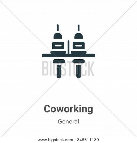 Coworking icon isolated on white background from general collection. Coworking icon trendy and moder