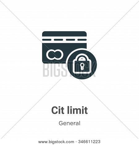 Credit limit icon isolated on white background from general collection. Credit limit icon trendy and