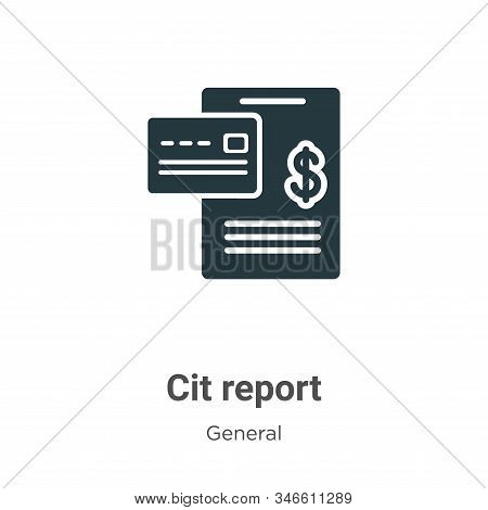 Credit report icon isolated on white background from general collection. Credit report icon trendy a