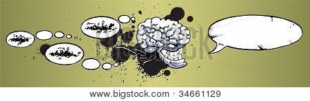 Grinning big-brain monster