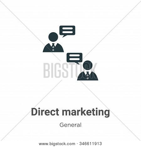 Direct marketing icon isolated on white background from general collection. Direct marketing icon tr
