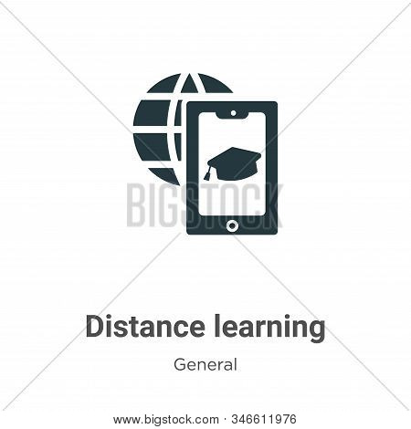 Distance learning icon isolated on white background from general collection. Distance learning icon