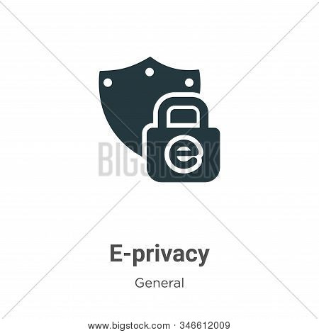 E-privacy icon isolated on white background from general collection. E-privacy icon trendy and moder