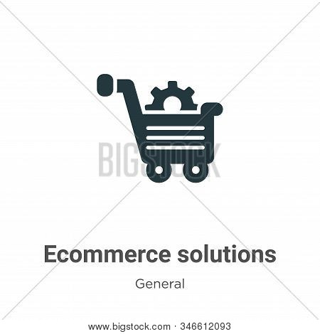 Ecommerce Solutions Glyph Icon Vector On White Background. Flat Vector Ecommerce Solutions Icon Symb