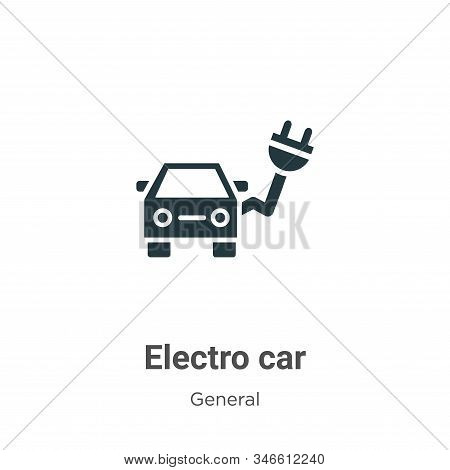 Electro car icon isolated on white background from general collection. Electro car icon trendy and m
