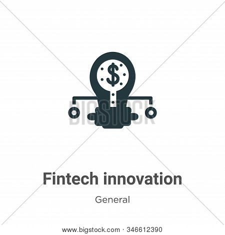 Fintech innovation icon isolated on white background from general collection. Fintech innovation ico