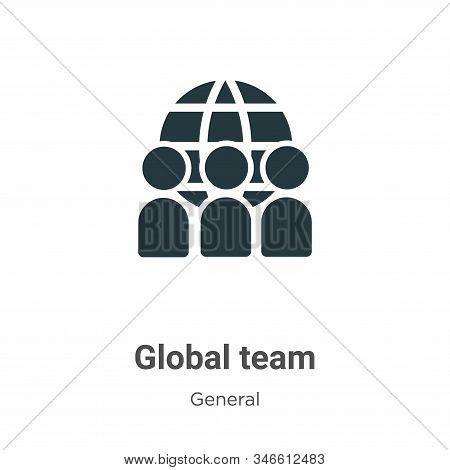 Global team icon isolated on white background from general collection. Global team icon trendy and m