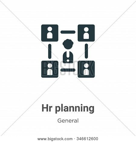 Hr planning icon isolated on white background from general collection. Hr planning icon trendy and m