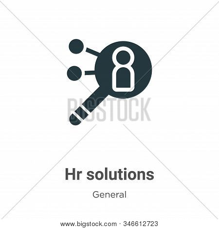 Hr solutions icon isolated on white background from general collection. Hr solutions icon trendy and