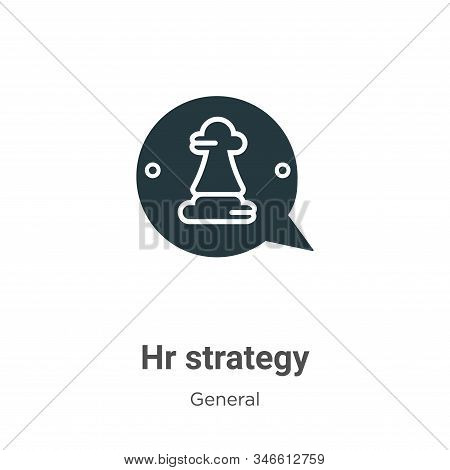 Hr strategy icon isolated on white background from general collection. Hr strategy icon trendy and m