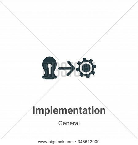 Implementation icon isolated on white background from general collection. Implementation icon trendy