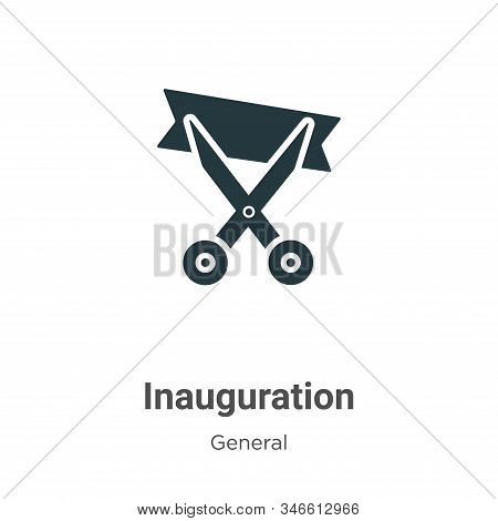 Inauguration Glyph Icon Vector On White Background. Flat Vector Inauguration Icon Symbol Sign From M