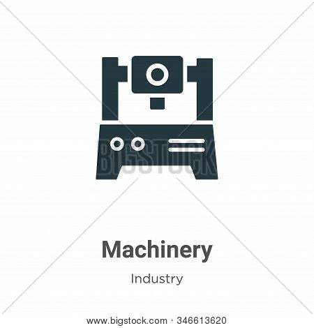 Machinery Glyph Icon Vector On White Background. Flat Vector Machinery Icon Symbol Sign From Modern