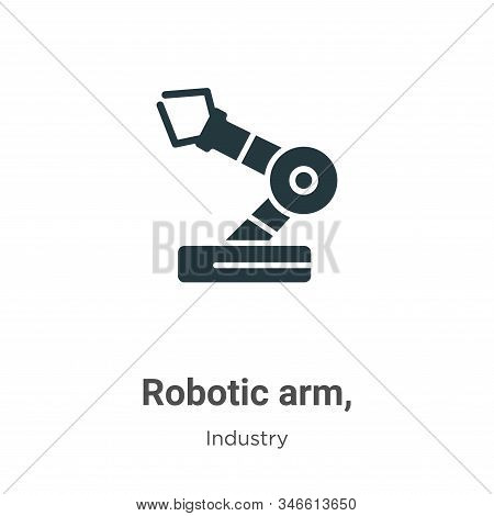 Robotic arm, icon isolated on white background from industry collection. Robotic arm, icon trendy an