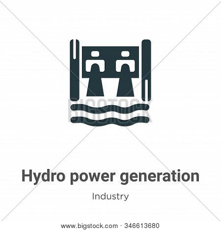 Hydro power generation icon isolated on white background from industry collection. Hydro power gener