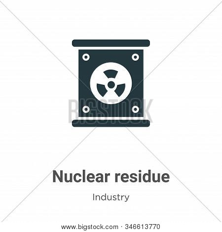 Nuclear residue icon isolated on white background from industry collection. Nuclear residue icon tre