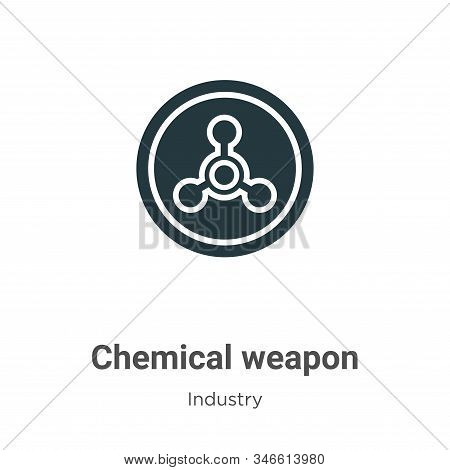 Chemical weapon icon isolated on white background from industry collection. Chemical weapon icon tre