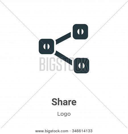 Share symbol icon isolated on white background from logo collection. Share symbol icon trendy and mo