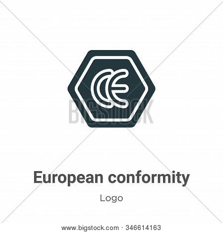 European conformity icon isolated on white background from logo collection. European conformity icon