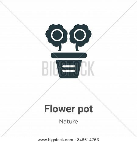 Flower pot icon isolated on white background from nature collection. Flower pot icon trendy and mode