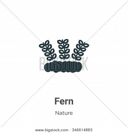 Fern Glyph Icon Vector On White Background. Flat Vector Fern Icon Symbol Sign From Modern Nature Col