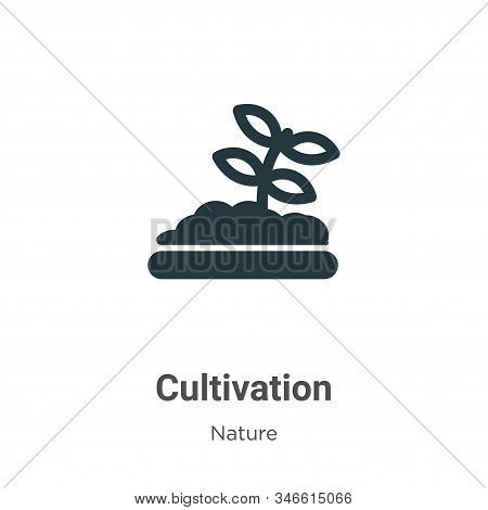 Cultivation Glyph Icon Vector On White Background. Flat Vector Cultivation Icon Symbol Sign From Mod