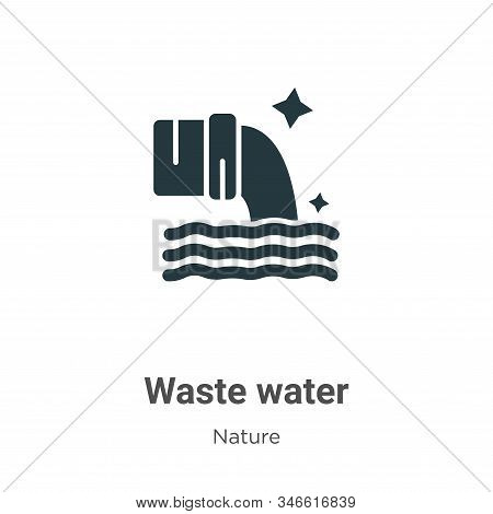 Waste water icon isolated on white background from nature collection. Waste water icon trendy and mo