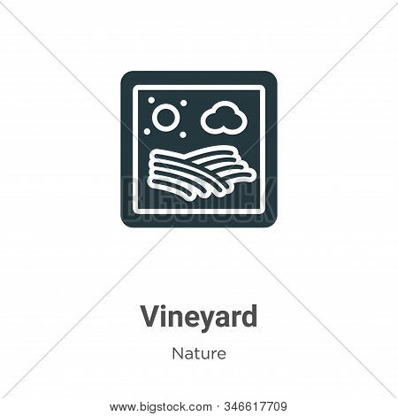 Vineyard icon isolated on white background from nature collection. Vineyard icon trendy and modern V