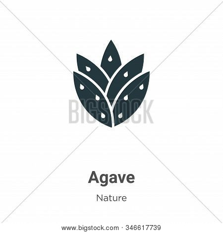 Agave Glyph Icon Vector On White Background. Flat Vector Agave Icon Symbol Sign From Modern Nature C