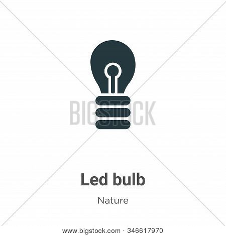 Led bulb icon isolated on white background from nature collection. Led bulb icon trendy and modern L