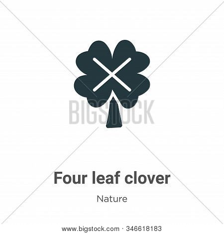 Four leaf clover icon isolated on white background from nature collection. Four leaf clover icon tre