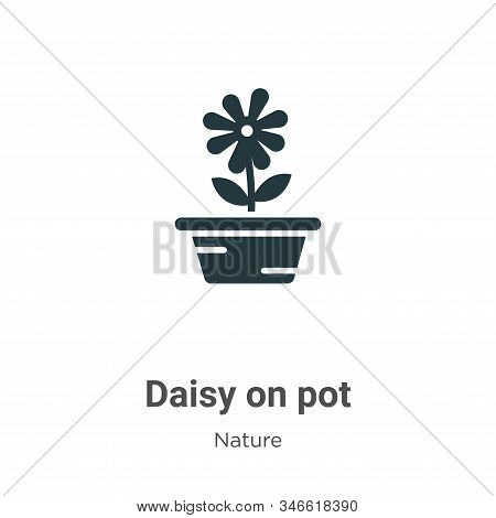 Daisy on pot icon isolated on white background from nature collection. Daisy on pot icon trendy and