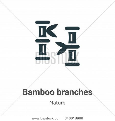 Bamboo branches icon isolated on white background from nature collection. Bamboo branches icon trend