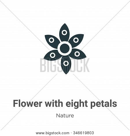 Flower with eight petals icon isolated on white background from nature collection. Flower with eight