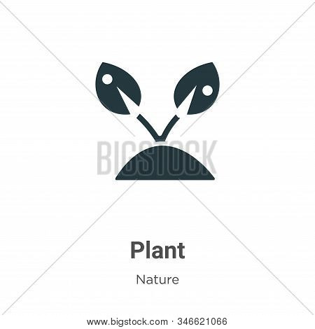 Plant icon icon isolated on white background from nature collection. Plant icon icon trendy and mode