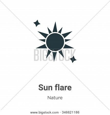 Sun flare icon isolated on white background from nature collection. Sun flare icon trendy and modern