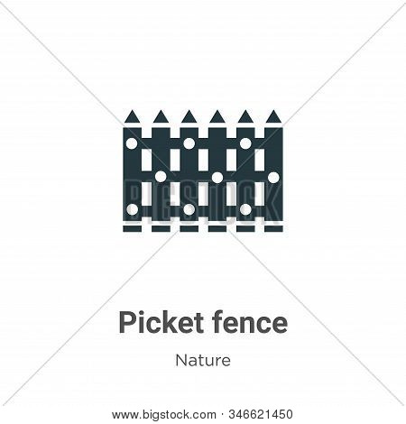Picket fence icon isolated on white background from nature collection. Picket fence icon trendy and