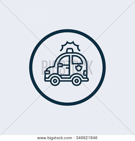 Police Car Icon Isolated On White Background. Police Car Icon Simple Sign. Police Car Icon Trendy An