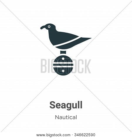 Seagull icon isolated on white background from nautical collection. Seagull icon trendy and modern S