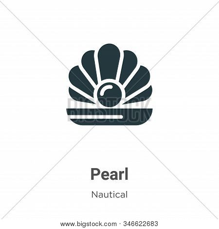 Pearl icon isolated on white background from nautical collection. Pearl icon trendy and modern Pearl