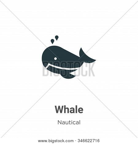 Whale icon isolated on white background from nautical collection. Whale icon trendy and modern Whale