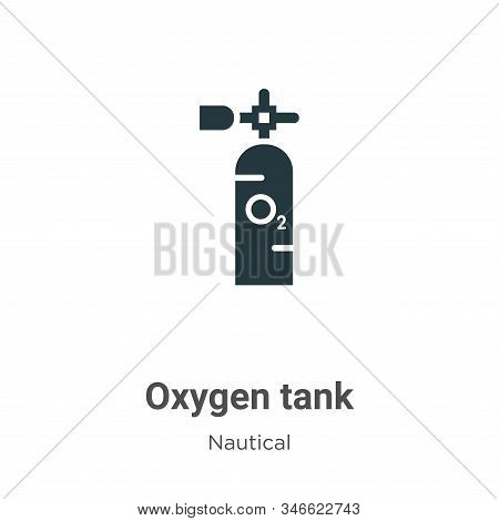 Oxygen tank icon isolated on white background from nautical collection. Oxygen tank icon trendy and
