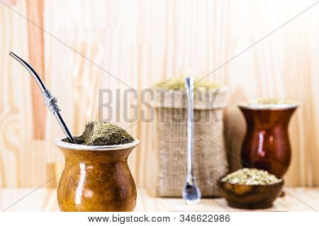Chimarrão, Or Mate, Is A Characteristic Drink Of The Culture Of Southern South America. Mate Bowl Wi