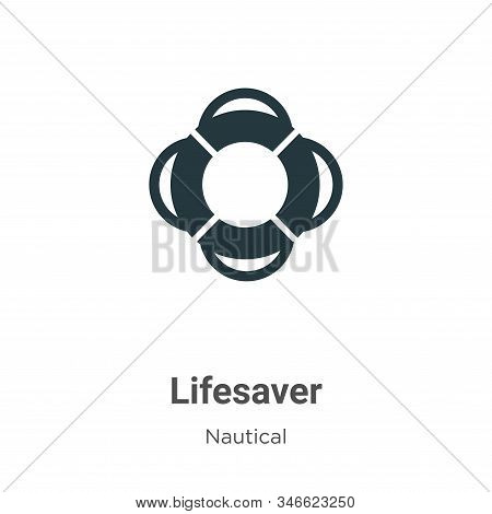 Lifesaver icon isolated on white background from nautical collection. Lifesaver icon trendy and mode
