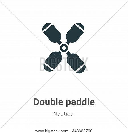 Double paddle icon isolated on white background from nautical collection. Double paddle icon trendy