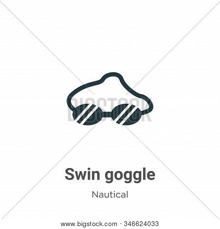 Swin goggle icon isolated on white background from nautical collection. Swin goggle icon trendy and