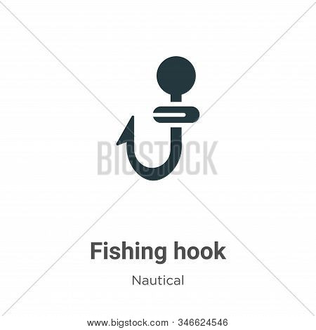 Fishing hook icon isolated on white background from nautical collection. Fishing hook icon trendy an