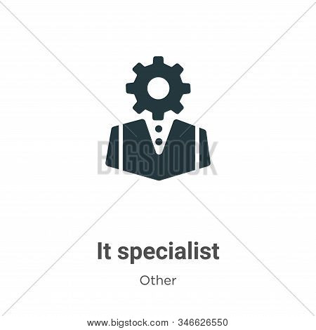 It Specialist Glyph Icon Vector On White Background. Flat Vector It Specialist Icon Symbol Sign From